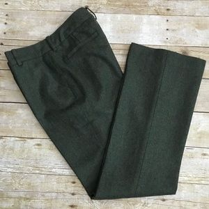 Anne Klein Suit Wool Blend Olive Green Pants. SZ 2